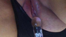 Masturbating in Stockings