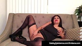 Mexican Milf Gabby Quinteros Dildo Stuffs Her Mature Muff!