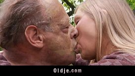 Incredible sex between sweet teenager and old bastard