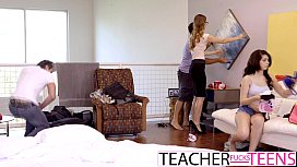 Slutty Teen Caught By Teacher With Cocks