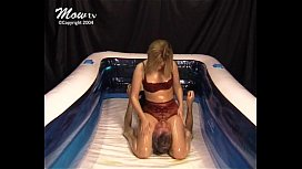 Mixed Oil Wrestling Sexy Submission Becky
