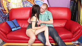 Sweet romantic fuck with young cute brunette