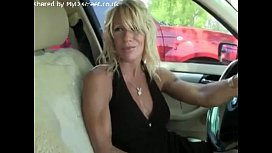 Hot Blonde on road x