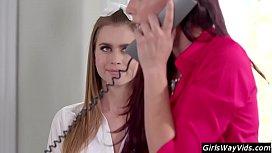 Young lesbian hiting on teacher