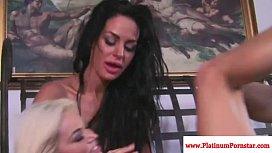 Angelina Valentine licked out by lesbo