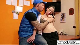 Office Sex Tape With Hungry For Cock Slut Girl (klaudia hot) clip-22