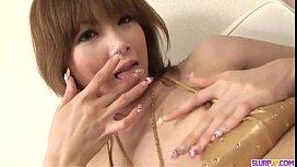 Rika Sakurai amazes with her perfect cock sucking skills