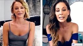 Mom And StepDaughter Masturbating Via Webcam - Cherie Deville, Emma Hix