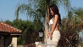 Sexy Capri Cavanni loses her bikini with the poolboy PureMature