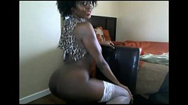 Ebony puma with wild afro and big boobs on cam. More at 747cams.com