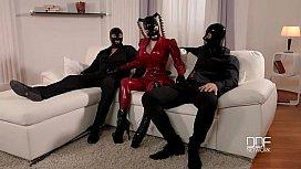 Latex Lucy ery Masks Latex Loving Threesome
