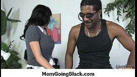 Hot Ssmoking mom getting her pussy explored by black 1