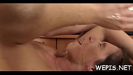 Wicked wench gets wicked and is pissing on cock of her stud