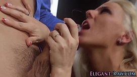 Blonde european has anal
