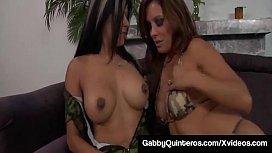 Mexi Milf Gabby Quinteros &amp_ Francesca Le Eat Pussy &amp_ Cream!
