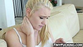 Tiny blonde teen fucks random stranger she hooks up with online