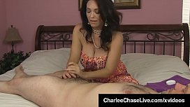 Big Breasted Milf Charlee Chase Gives HandJob To Lucky SOB!