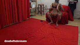 Ba age interview and striptease by busty czech MILF