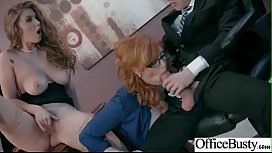 (Lauren Phillips & Lena Paul) Busty Office Girl In Hard Style Sex Action clip-14