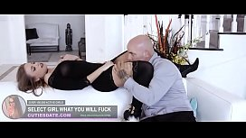 Model virgin experience first lick at home