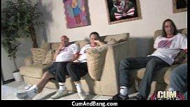 Crazy Group Interracial Blowjob Wow 24