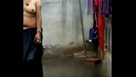 Nude seema in rain