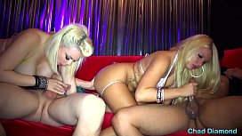 Layla Price &amp_ Alice Frost Take two big Dicks in The Champagne Room
