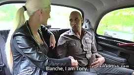 Big cock guy bangs big tits cab driver