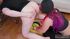 Bondage furniture first time Ass-Slave Yoga
