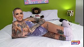 PervCity Hardcore Anal Creampie for Inked Slut Leigh Raven