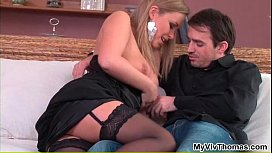 Amazing Colette in sexy lingerie loves