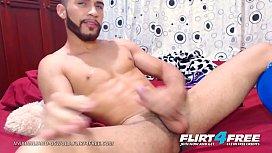 Maximiliano Oswold - Flirt4Free - College Hispanic Hunk Plays w His Big Uncut Cock