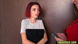Nasty mature family friend loves a hot tiny slut teens