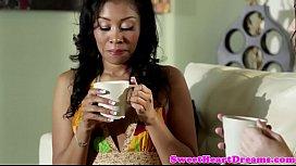 Ebony amateur eats dykes tight pussy