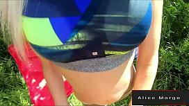 Sexy Fit Teen Blonde in Outdoor Scene! AliceMargo.com