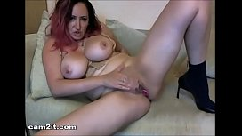 Big Natural Tits Milf Rubbing Her Pussy And Toying Her Ass Cam2it.com
