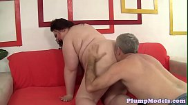 Massivetits BBW rides in reversecowgirl pose