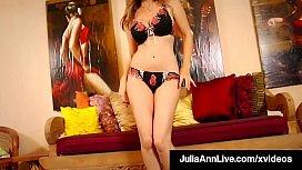 Red Heeled Hot Mommy Julia Ann Finger Fucks Her Mature Muff!