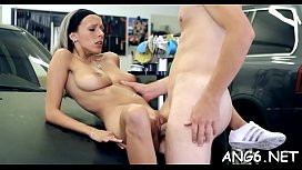 Explicit and sexual doggystyle drilling for cute honey