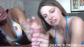 Our double blowjob skills will make you blow you load JOI