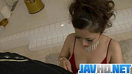 Meisa Hanai gets nasty on cock in the war shower