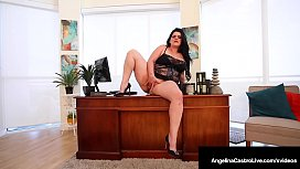 Plump Pussy Angelina Castro Stuffs Her Curvy Cunt In Office!