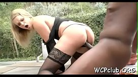 Concupiscent chick is performing great-looking deep throat blow