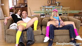 Alyce Sage and Kimberly Moss Suck Cock and Stuffed