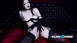 Sexy Goth Girl Fucks Herself in Latex