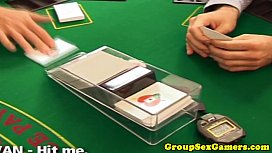 Amateur in group gets creampie