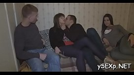Pleasing two-on-two pussy-ramming session with doxies xvideos preview