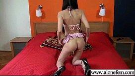 Alone Sexy Horny Girl Masturbating Tender vid-12