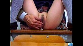 Nana Kurosaki makes magic with her hairy pussy