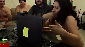 Hot couple playing sex games on webcam IV